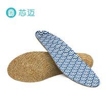 芯迈软木鞋垫运动减震男女鞋适用夏季吸汗鞋垫diy海浪定制款
