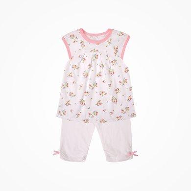 丑丑嬰幼 女寶寶夏季短袖套裝女童可愛裙套裝1-2歲 CHE762T