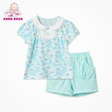 丑丑婴幼女童套装夏季新款女宝宝公主套装 女童韩版套装