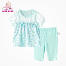 丑丑婴幼 女童短袖套装夏装新款女宝宝时尚可爱套装女童外出服