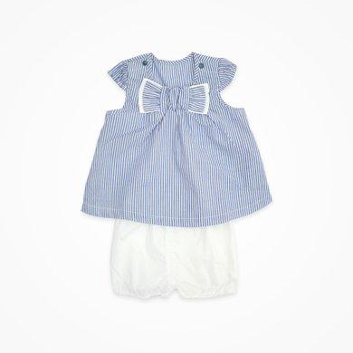 丑丑嬰幼 女寶寶純棉短套裝 夏季新款女童時尚條紋套裝1-3歲 CHE771T