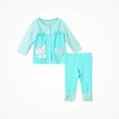 丑丑嬰幼 女童套裝秋冬新款女寶寶卡通前開套裝6個月-3歲 CFE759X
