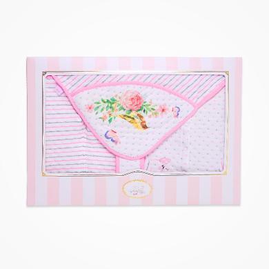 【爆款99元】丑丑嬰幼新生兒夾棉禮盒裝秋冬新款女寶寶保暖三件裝禮盒0-1歲CMF015L