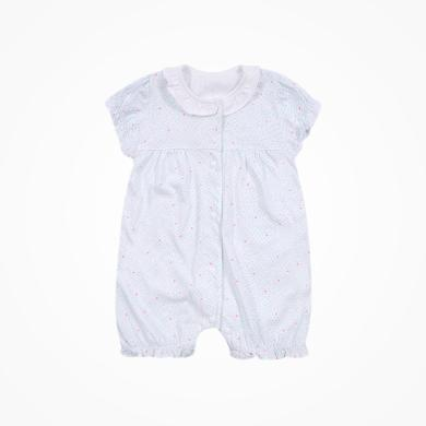 丑丑嬰幼 新生兒內衣連體衣夏季新款女寶寶純棉前開短哈衣3個月-1歲半 CND021X