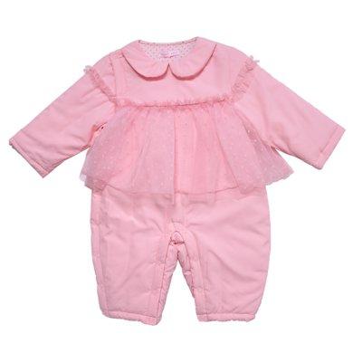 丑丑嬰幼 女寶寶公主棉哈衣冬季女童甜美棉哈衣、爬服、連體衣3個月-1歲半