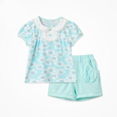丑丑嬰幼女童套裝夏季新款女寶寶公主套裝 女童韓版套裝