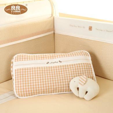 良良 枕巾新生兒嬰兒枕頭巾 透氣吸汗排汗寶寶枕巾兒童半面枕套