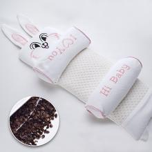 呵寶嬰兒枕頭新生兒定型枕寶寶睡覺枕彩棉蕎麥卡通枕頭冬