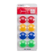 晨光文具磁粒贴教学白板贴办公学习用品冰箱贴ASC99366--8粒装