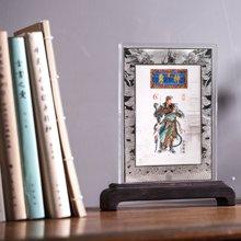 武财神关公邮票纯银创意摆件招财镇宅办公室书房装饰收藏礼品(带证书)
